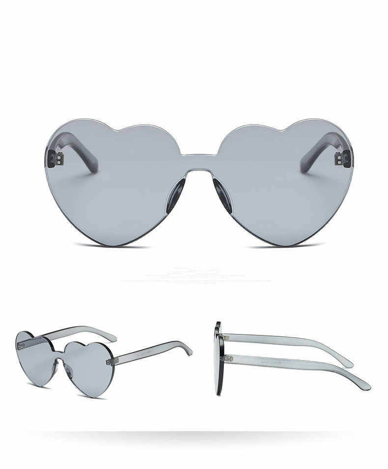 605d7338fd ... 2019 Tumblr lindo corazón gafas de sol de las mujeres sin marco Lolita  hue amor gafas ...