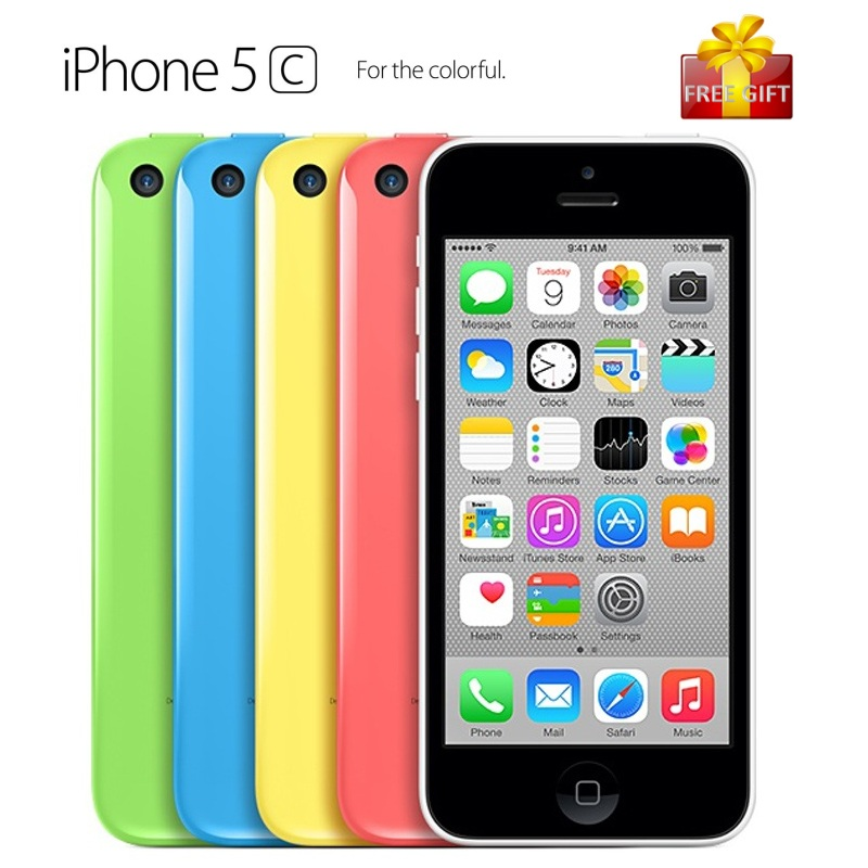 Цена за Разблокирована оригинальный apple iphone 5c сотовый телефон 4.0 дюймов экран Двухъядерный IOS Мобильный Телефон 8.0MP WIFI GPS Смартфон С подарок