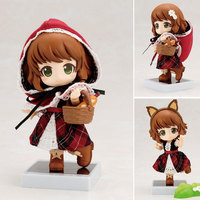 10cm Q version Little red riding hood Action Figure Nendoroid Real Clothes Ver. Model Dolls Collection Toys Kids Gift