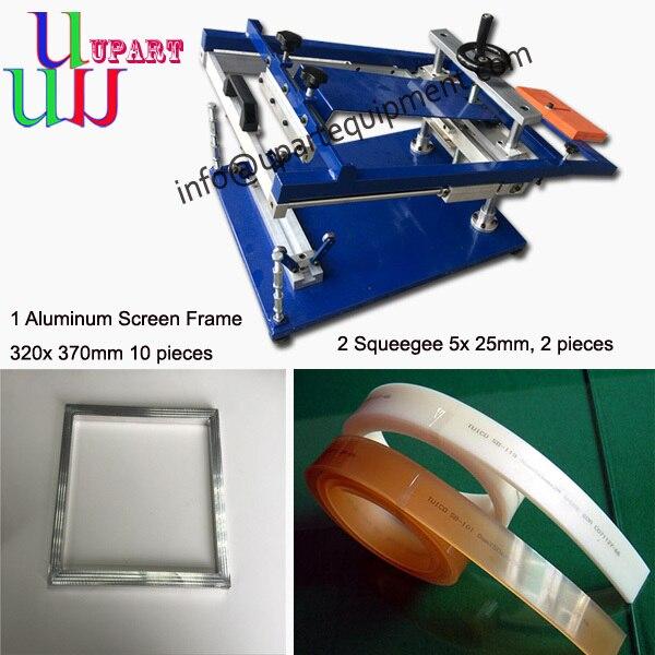 Руководство cuver трафаретная печатная машина с unversial джиг и алюминиевая рама