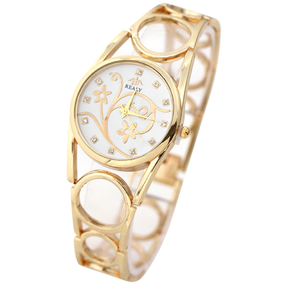 2018 Brand Watch Women Luxury Bracelet Watch Dress Ladies Fashion Silver Gold Gold Stainless Steel Quartz Watch High Quality high quality classic dalas brand leather silver steel strap watches women dress watch ladies quartz watch