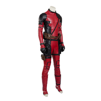 Супергерой Дэдпул костюм красный кожаный Дэдпул комбинезон Хэллоуин косплей костюм Мужчины Женщины Полный комплект