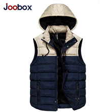 JOOBOX 2017 New Mens Jacket Sleeveless Vest Winter Fashion Casual Coats Male Cotton-Padded Men's Vest Men Thicken Waistcoat 3XL