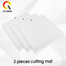 Cutting Mat for Cricut Explore One/Air/Air 2/Maker [Standardgrip,12x12 inch,3pcs] Adhesive&Sticky Non-slip Flexible Gridded Mats