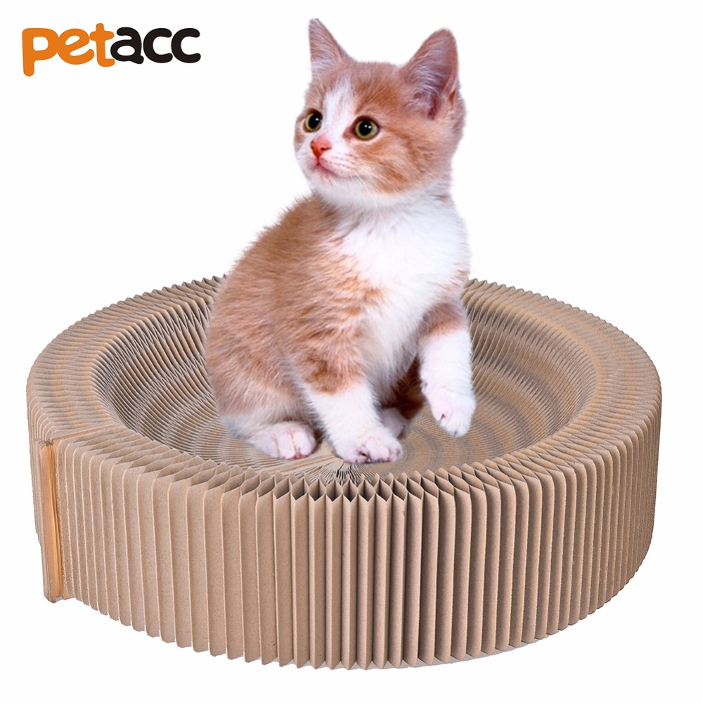 Petacc cat scratcher bed pussy scratch lounge recycled corrugated cardboard cat bed for indoor - Cat bed scratcher ...