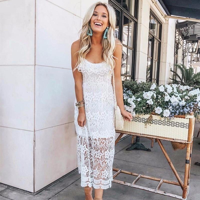 MUXU sexy white lace dress fashion vestidos patchwork jurken bodycon women clothing kleider sundress transparent backless jurk