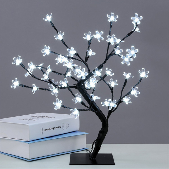 48 Lights Simulationxmas Led Cherry Blossom Tree Light New Year Wedding Luminaria Decorative Branches Lamp