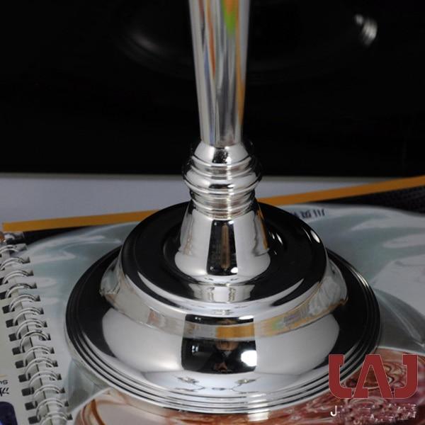H50cm metal kristal dekorativ gümüş 5 qollu şamdan şamdan - Ev dekoru - Fotoqrafiya 6