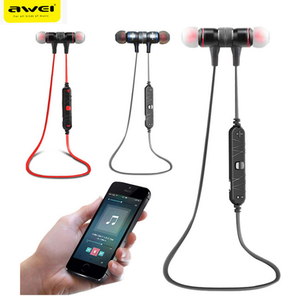 Awei A920BL Sport Blutooth Cordless Earbuds Earpiece Wireless Headphone Headset Auriculares Bluetooth Earphone For In Ear Phone 2 in 1 mini bluetooth headset phone usb car charger auriculares micro earpiece kopfhorer wireless earphone for samaung galaxy s7
