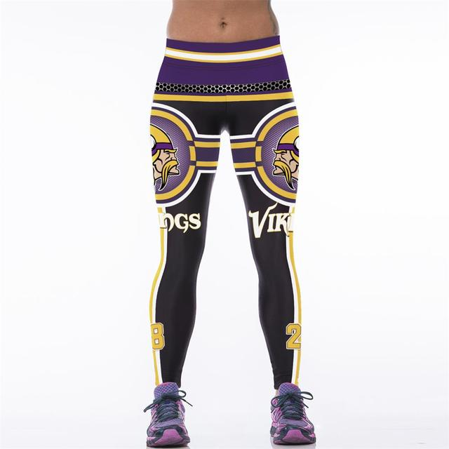 972d1f01 US $8.93 30% OFF|Adventure Time 3D Printed Women Fitness Legging American  Footballs NFL Minnesota Vikings Gymnasium Workout Leggings Leggins-in ...