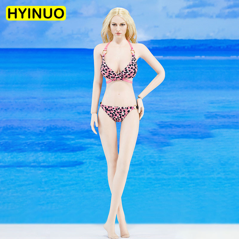 4 Colors Model 1/6 Scale ATX020 <font><b>Sexy</b></font> Female Bikini Swimsuit Women fine Girl Clothes Clothing Set For12