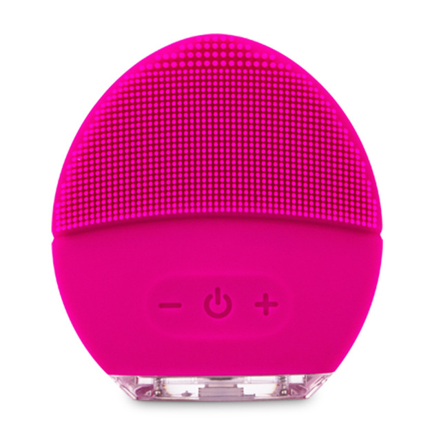Electric Silicone Facial Cleansing Brush Sonic Vibration Massage Soft Scrubber Face Exfoliating Ultrasonic Face Cleaner Tool