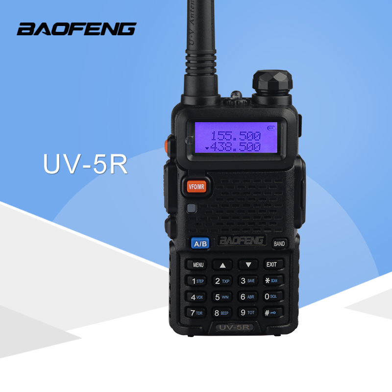 Walkie talkie Baofeng UV5R Ham Two Way Radio walkie talkie Dual-Band Ricetrasmettitore (Nero)