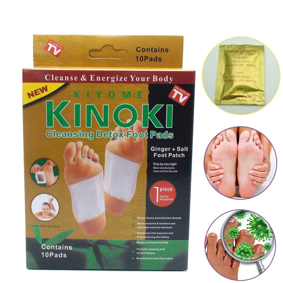 10pcs Premium Kinoki Detox Foot Pads Organic Herbal