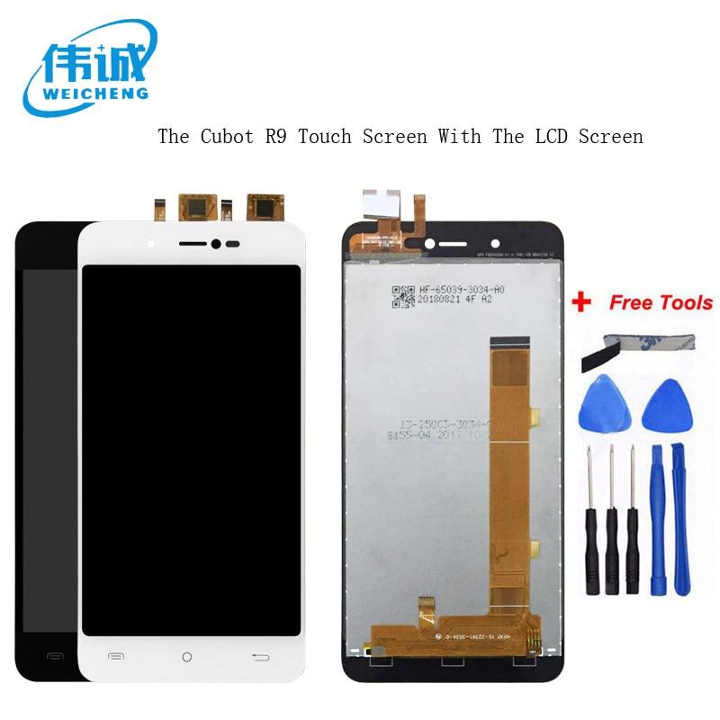 WEICHENG Pour Cubot R9 écran LCD + ensemble numériseur à écran tactile Pour R9 LCD écran en verre Pièces De Rechange + Outils Gratuits