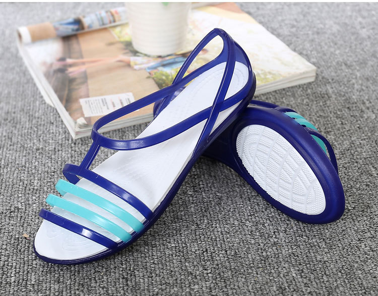 Women Flat Sandals Jelly Shoes Summer Beach Shoes Sandalia Feminina 2019 Candy Color Slides Ladies Slippers Chaussures Femme