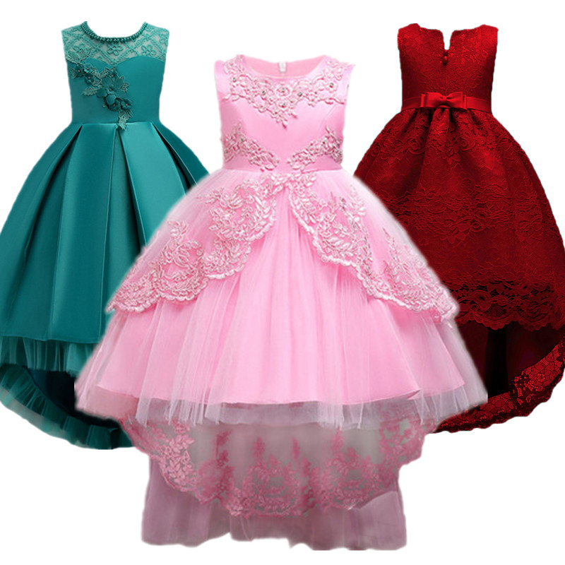 Baby Girl Dress Children Kids Dresses For Girls 2 3 4 5 6 7 8 9 10 Year Birthday Outfits Dresses Girls Evening Party Formal Wear summer wedding party princess girl dresses formal wear 2 3 4 5 6 7 8 years birthday dress for girls kids bow tie girls clothes