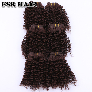 Image 5 - FSR Synthetic Hair weave Short Kinky Curly hair weaving 6 pieces/Lot 210g hair product