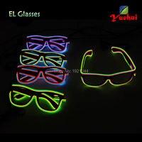 Подарок партии EL Провода светящиеся Очки модные светящиеся украшения партии Оптовая Светящиеся код 20 штук неоновый свет до Очки