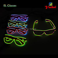 Party gift EL Wire Glowing Glasses Fashion Glow Party Decoration Wholesale Glowing Product 20pieces Neon Light up Glasses