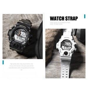 Image 5 - Zegarki męski zegarek cyfrowy biały zegarek sportowy SMAEL 50M wodoodporny Auto data relogio masculino cyfrowe zegarki wojskowe męskie sportowe