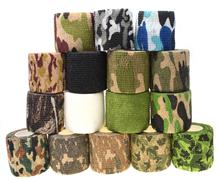 1 rolka U Pick 4 5m * 5cm wodoodporna odkryty Camo Camping polowanie taśma kryjąca do kamuflażu okłady tanie tanio 5cm*4 5m(stretched length) Odzieży Elastyczna Ekologiczne Samoprzylepne Poliester nylon Camouflage Tape Polyester non-woven fabrics
