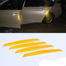 цена на 4pcs Car Reflective Alarm Stickers Diamond Level Car Styling Anti-collision Stickers for Front Bumper and Rear Bumper New