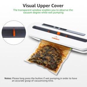 Image 5 - Animore 식품 진공 실러 식품 보호기 220 v/110 v 가정용 진공 실러 10pcs 진공 가방 무료 씰링 기계