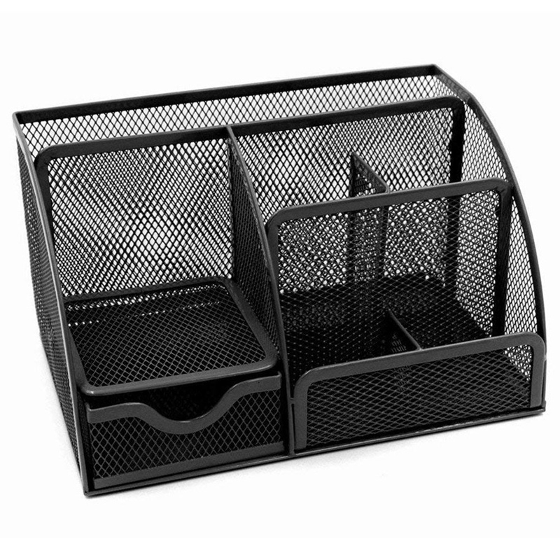 1pcs Office Stationery Multi-function Stationery Pen Holder Grid Storage Box