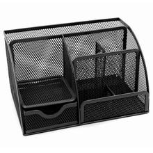 1pcs office stationery multi function stationery pen holder grid storage box