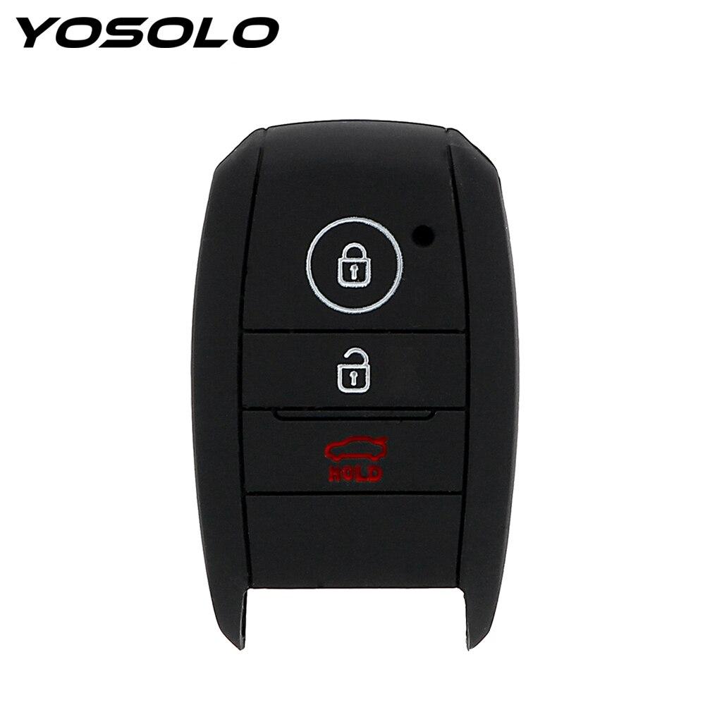 YOSOLO remplacement Silicone clé sac housse protecteur voiture porte-clés coquille pour kia rio sportage 2014 ceed sorento cerato K2 K3 K4 K5