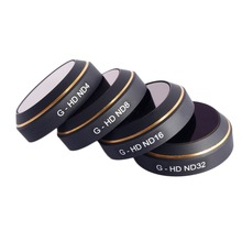4pcs/set MAVIC Professional Equipment PGYTECH Lens Filters G-HD-ND4 ND8 ND16 ND32 CPL for DJI MAVIC Professional Drone