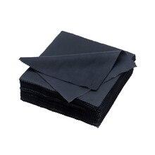 100pcs Black Glass Cloth Needle 1 Microfiber High Quality Lens Cloth Eyeglass Cleaning Cloth For