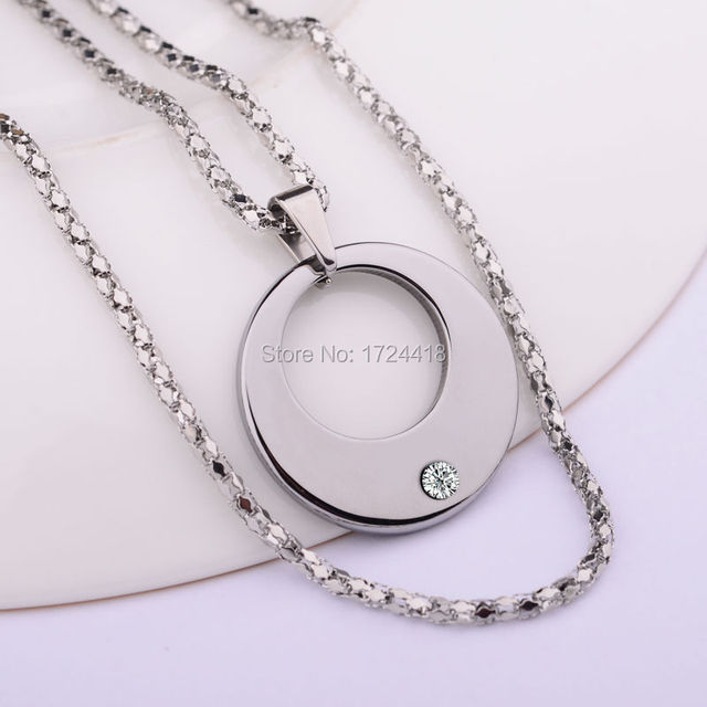 Famous Shiny Silver Tungsten Carbide Pendants Inlay Beautiful CZ Stone Scratch Proof Free Shipping For Man and Woman