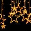 Xmas AC 110V 220V Strobe Light Christmas Star Shape Style Decorative String fairy Light for Partys Wedding Kids Room Decorations