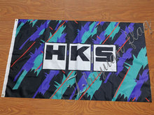 HKS flag 90x150cm with 100D Polyester custom digital print single side banner