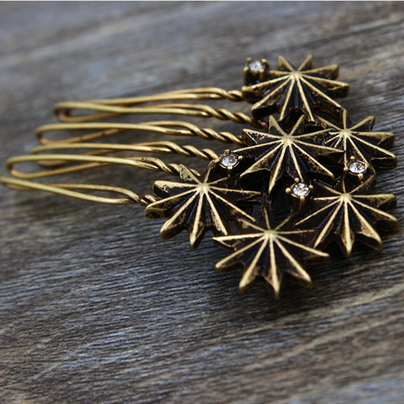 Vintage Metal flower hair comb women fashion vintage style hairclips hair accessories for women hair