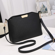 New Fashion Women Black PU Leather Crossbody Handbags Business Tide Ladies Shell Messenger Bags