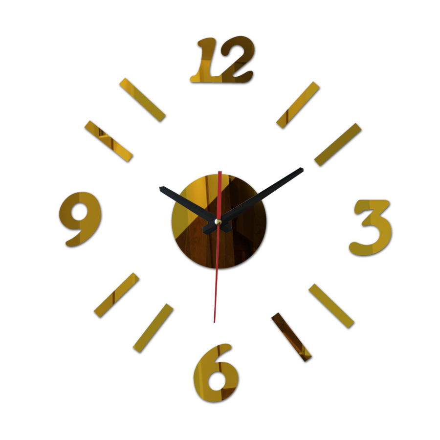 Contemporary Bedroom Officehome Decoration Silent Wall Clocks From Home Garden On 2017 New Promotion Clock On Wall Diy Round Mirror Glass Bedroom 2017 New Promotion Clock On Wall Diy Round Mirror Glas furniture Clock On Wall