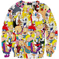 New fashion Women Men space Totally 90s Cartoon Print Pullover 3D/Galaxy Sweatshirts Hoodies Tops