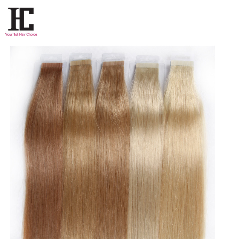 Tape In Human Hair Extensions Color 18 22 24 60 613 Grade 8a
