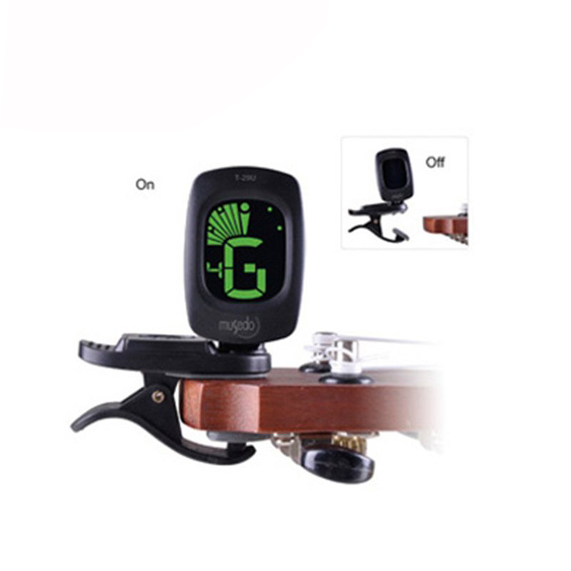 Musedo T-29U Mini Clip-on Tuner 360 Degree Rotatable Clip with LCD for Ukulele Auto Power On/Off