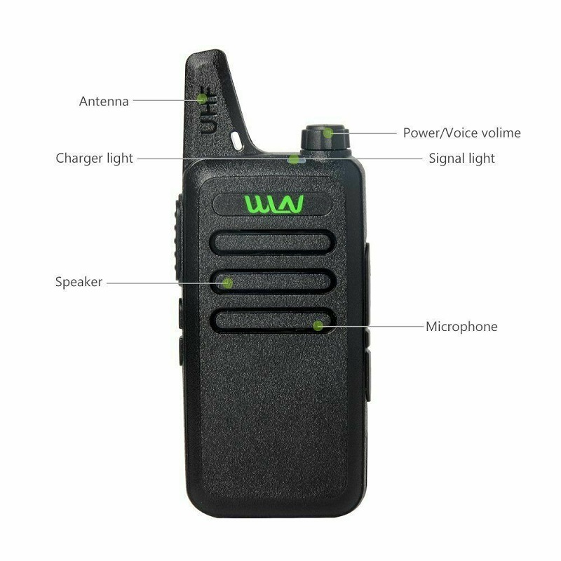 Image 2 - 2Pcs Mini Two Way Radio Handheld Kd C1 Portable Walkie Talkie C1 Wireless Radio Transceiver HF WLN KD C2 Ham Radio Comunicador-in Walkie Talkie from Cellphones & Telecommunications
