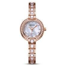 Lazer moda negócio relógio de diamante shell de cobre do sexo feminino relógios senhoras das mulheres assistir à prova d' água