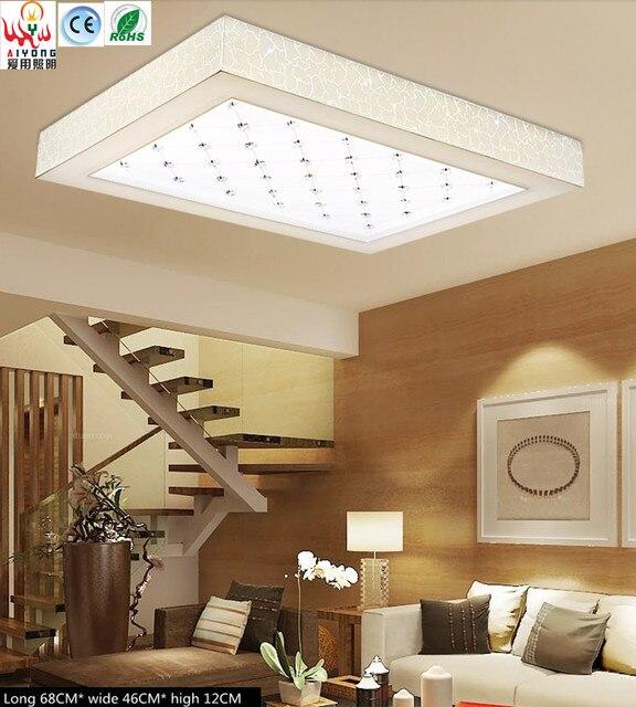 afstandsbediening dimmer led lampen plafond lamp ijzer eenvoudige rechthoekige woonkamer slaapkamer lamp creatieve verlichting