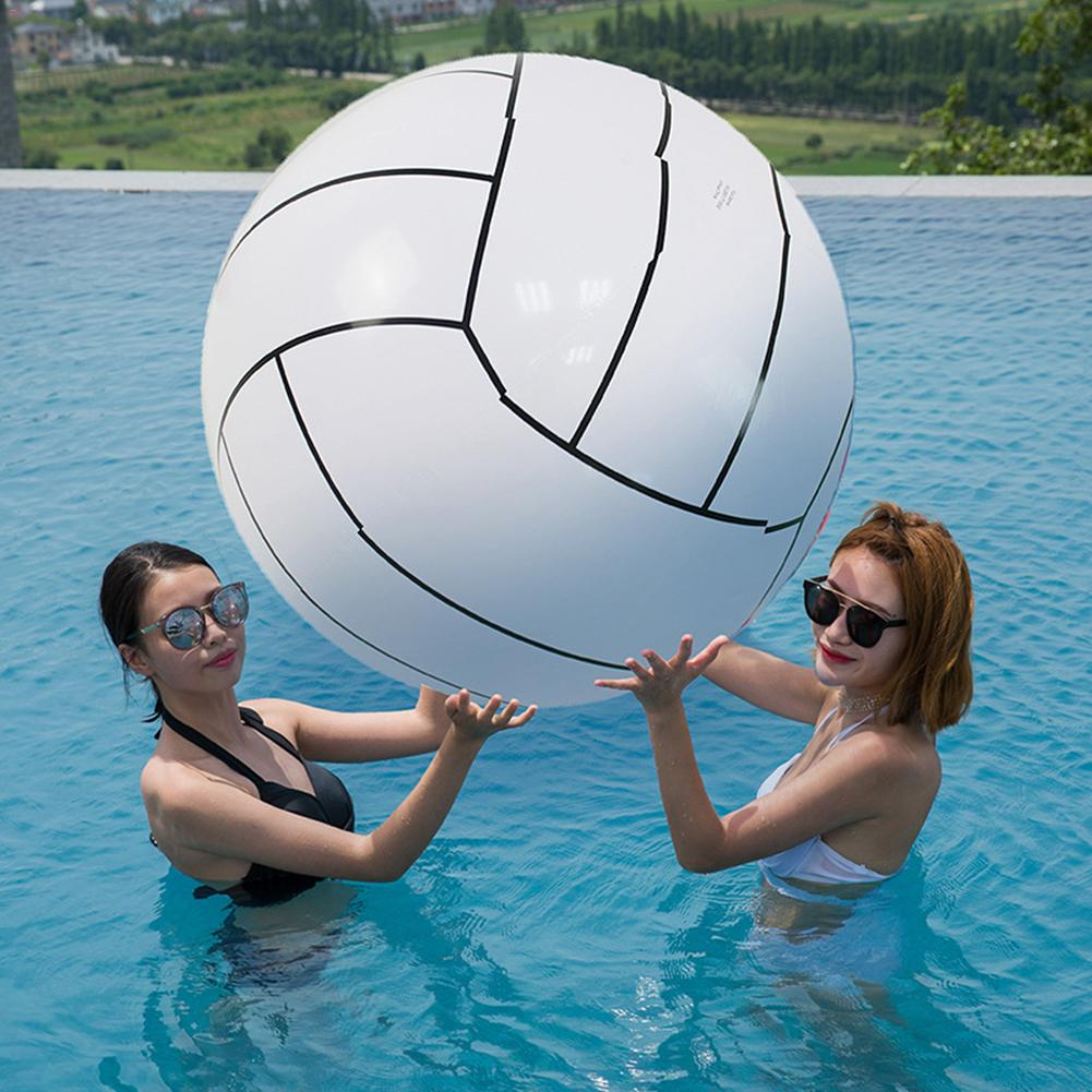 80CM Inflatable Beach Ball Volleyball Inflatable Ball Children's Game Water Toy Ball For Kids Adult Group Game - White