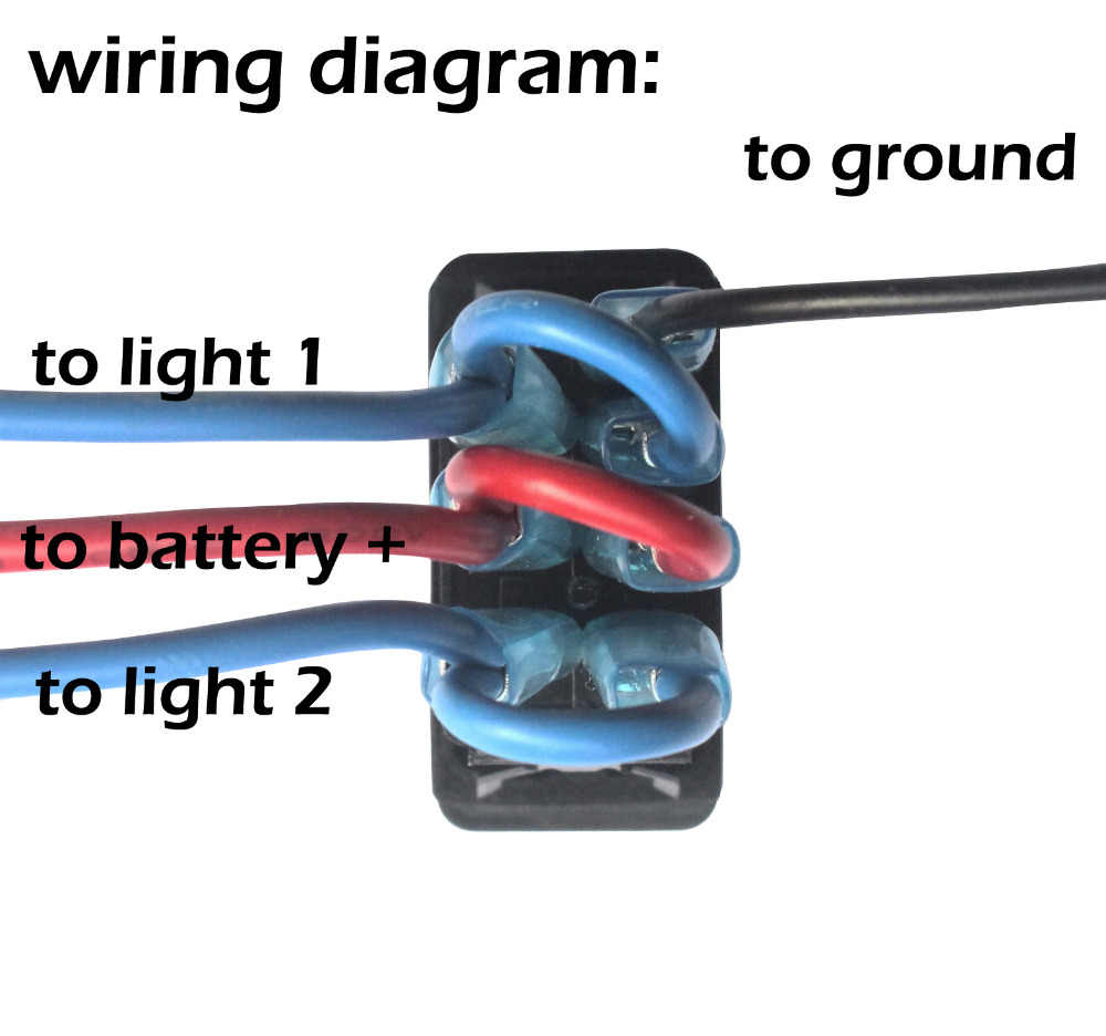 Nav Anc Lights Rocker Switch Cable Blue Led 7pins On Off On Dpdt For Arb Carling Narva Style Push Switch Replacement 12v 24v