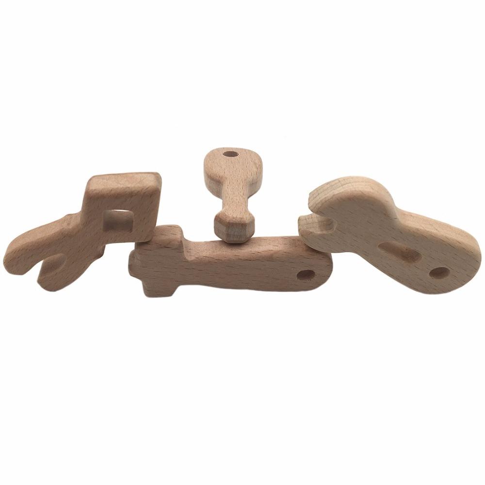 Lustige Werkzeuge Holz Beißring Anhänger 4 teil / satz - Säuglingspflege - Foto 1