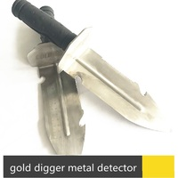 Gold Hunter metal detector hand garden digging tools stainless steel edge digger shovel spade with Sheath