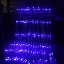 Tatil ışık 3X3M 320 LED şelale kar yağışı perde Icicle LED dize işık Meteor duş yağmur etkisi noel düğün ışıkları